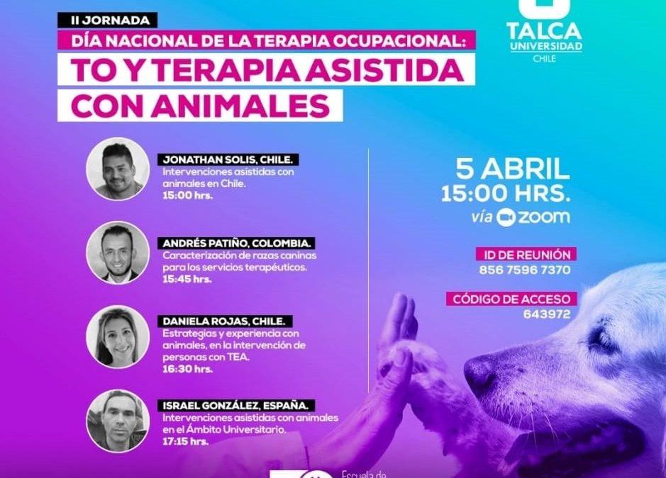 La Oficina de Intervención Asistida con Animales (OIAA) participó en la II Jornada del Día Nacional de la Terapia Ocupacional