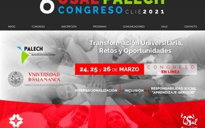 """La Oficina Universitaria de Aprendizaje y Servicio muestra su trabajo en el 6º Congreso USAL-PALECH """"CLIE2021"""""""