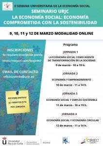 Cartel II Semana de la Universitaria Economia Social