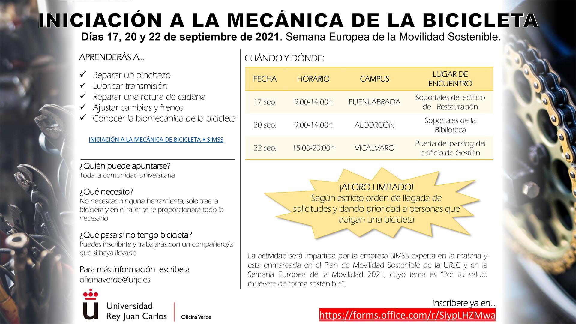 INICIACIÓN A LA MECÁNICA DE LA BICICLETA