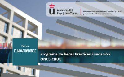 Publicada la convocatoria del programa de becas prácticas «Fundación ONCE-CRUE»