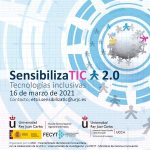 Cartel Jornadas SensibilizaTIC 2.0 Universidad Rey Juan Carlos