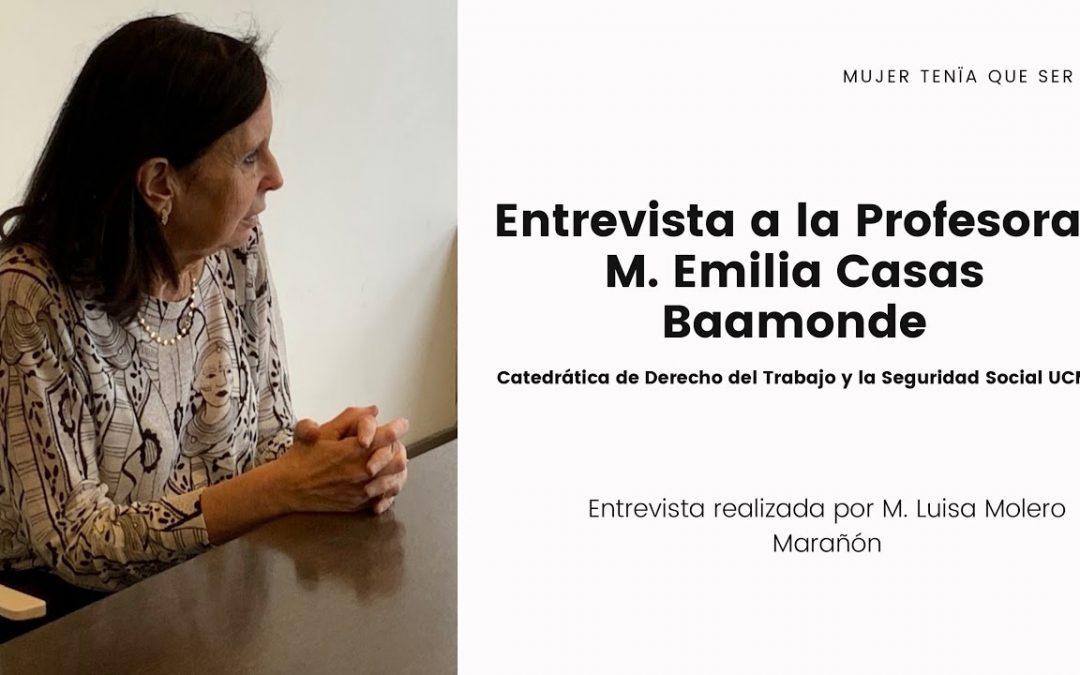 """M. Emilia Casas Baamonde, primera catedrática de Derecho del Trabajo y Seguridad Social y primera mujer en presidir el Tribunal Constitucional, """"ejercer la jurisdicción constitucional es un privilegio"""""""