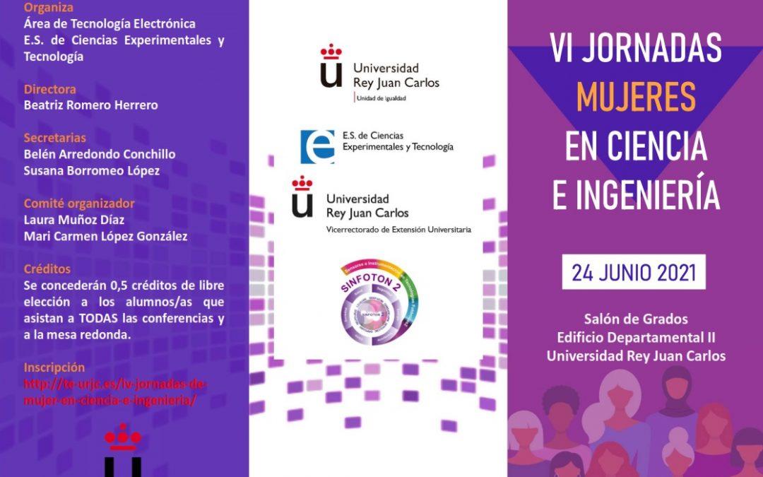 El Área de Tecnología Electrónica de la URJC organiza las VI Jornadas de Mujeres en Ciencia e Ingeniería