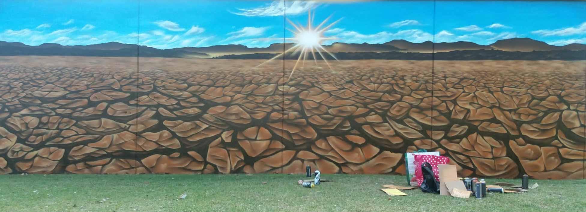ODS 13 Cambio climático Mural Mostoles URJC