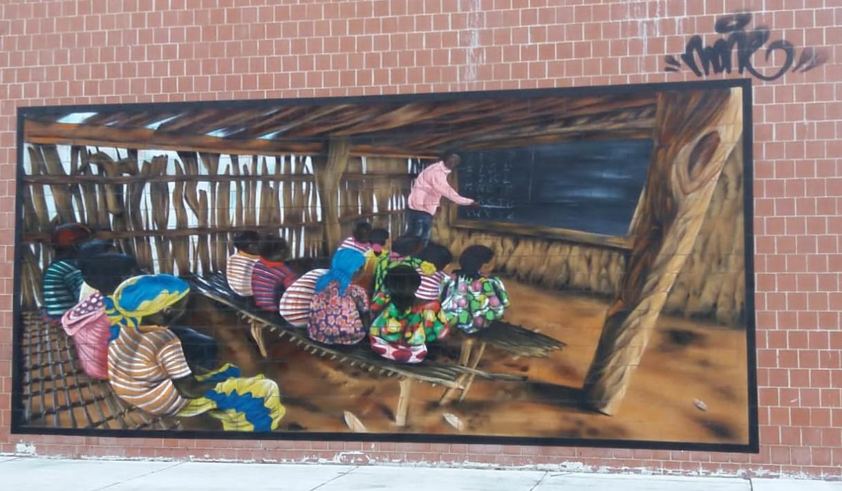 ODS 4 Mural Vicalvaro URJC Educación
