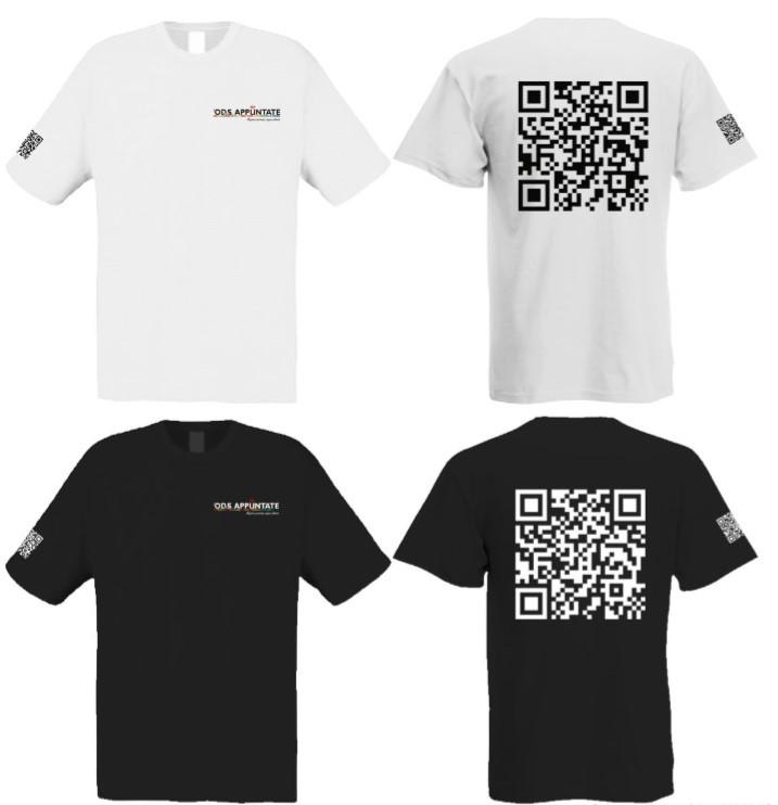 Imagen camisetas ODS URJC Promoción del proyecto URJC 2030 mediante camisetas con código QR